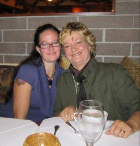 Me and My Mom...who taught me to face my 40's with bravery and Ferocity!