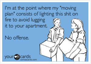 light on fire instead of move ecard